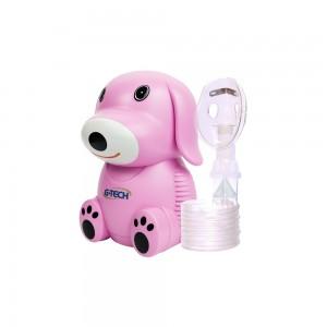 Inalador e Nebulizador NEBDOG G-Tech Rosa