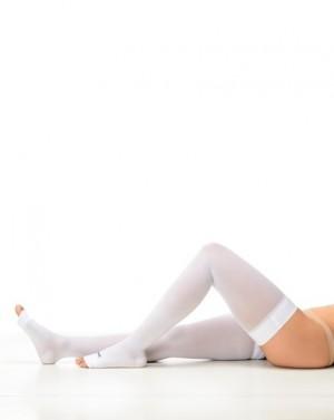Meia Antitrombo Modelo Meia Coxa Aberta compressão 18-23 mmHgTamanho Grande cor Branco Estéril Sigvaris
