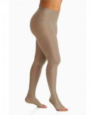 Meia compressão SIGVARIS Select Comfort Premium 20-30 mmHg meia calça ponteira aberta cor natural tamanho Pequeno Normal